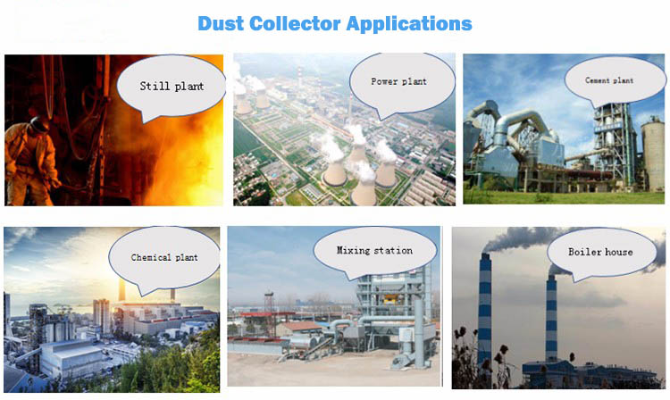 Air Box Pulse Dust Collector Suited Materials