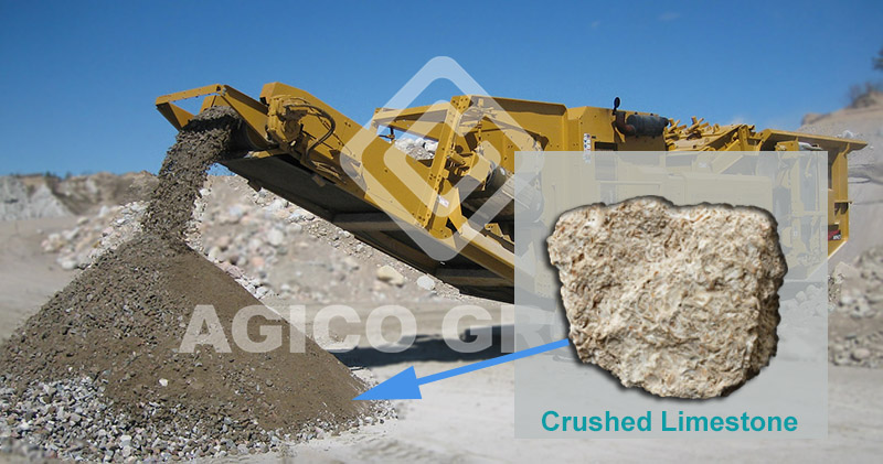 Limestone Impact Crusher  at site